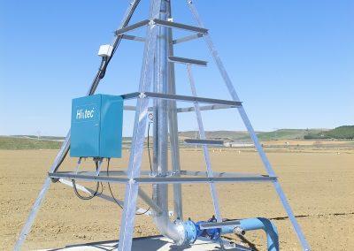 Pirámide central de pivot sectorial Hi&tec