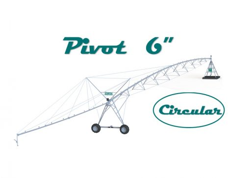"""Pivot 6"""" circular con voladizo 24m"""