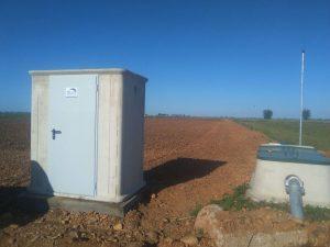 Caseta de control de cobertura enterrada